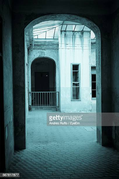 historic building seen through arch - andres ruffo stock-fotos und bilder