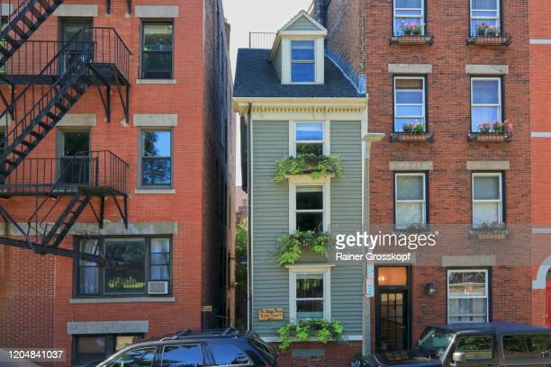 historic buildings in north end boston - rainer grosskopf foto e immagini stock