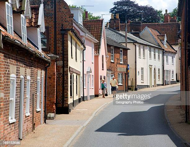 Historic buildings in Northgate street Beccles Suffolk England