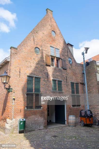 Historic buildings in the Drogenapally in Zutphen in Gelderland, The Netherlands