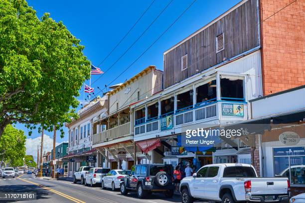 historic buildings in the town of lahaina,maui,hawaii,usa - pacific islands stock pictures, royalty-free photos & images