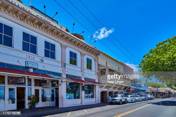 historic buildings in the town of lahaina,maui,hawaii,usa - lahaina stock pictures, royalty-free photos & images