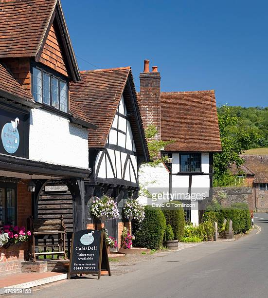 Historic buildings, Shere, Surrey, England