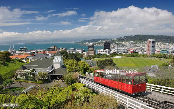 historic cable car, wellington, new zealand (xxxl) - wellington new zealand stock photos and pictures