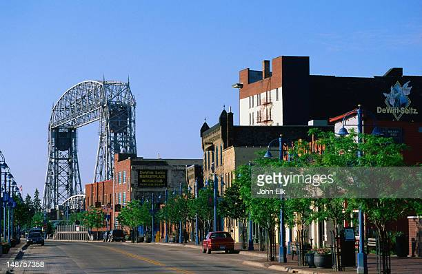historic canal park district, duluth - duluth minnesota stock pictures, royalty-free photos & images