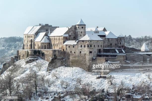 historic castle of burghausen bavaria germany - altötting stock photos and pictures