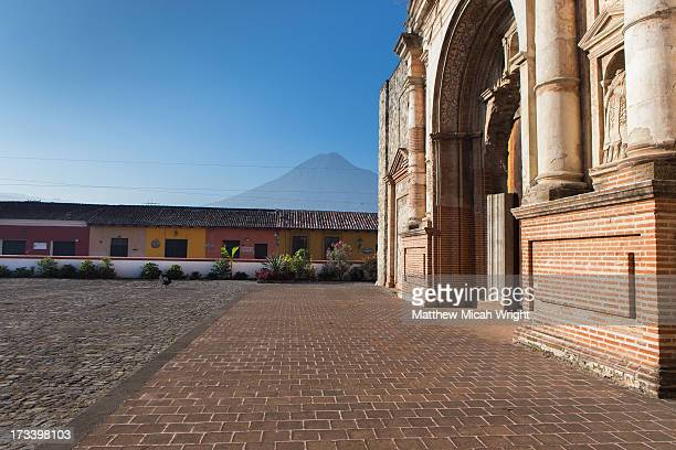 A historic cathedral in central Antigua