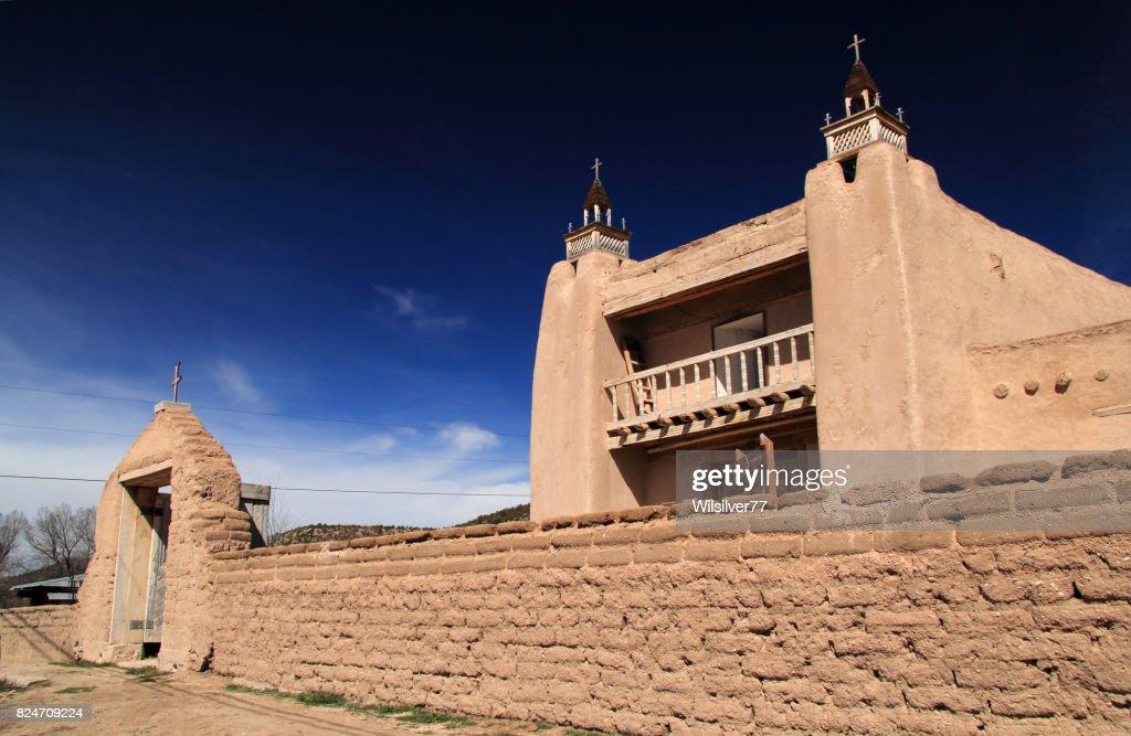 Historic Catholic Church in Las Trampas : Stock Photo