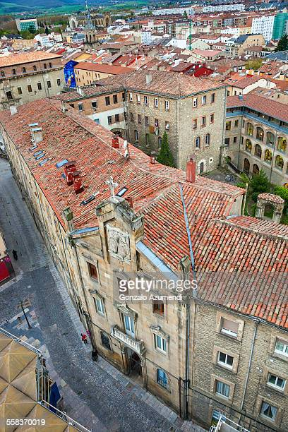 historic center in vitoria- gasteiz - vitoria spain stock pictures, royalty-free photos & images