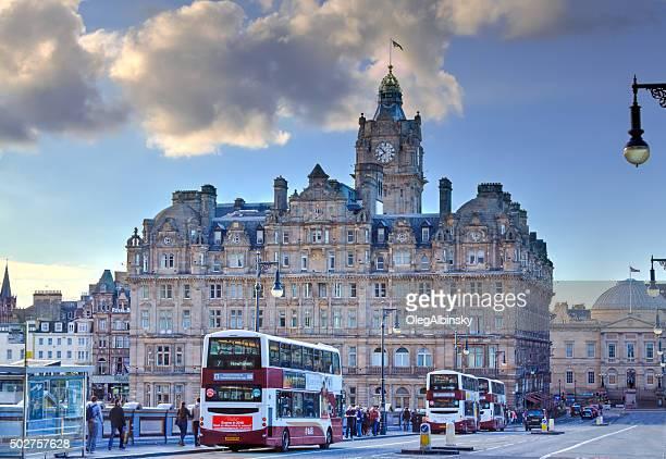 Historic Center (Old Town) of Edinburgh, Scotland, United Kingdom.
