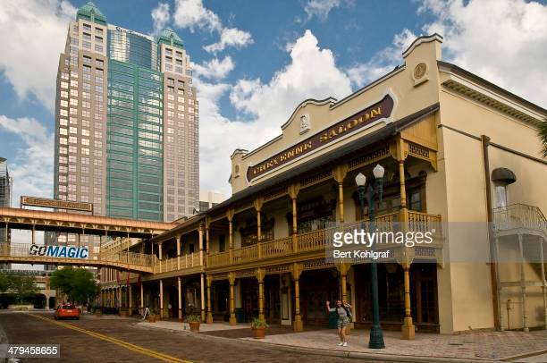 Historic Center of Orlando, Florida. Contrast of old and new architecture.