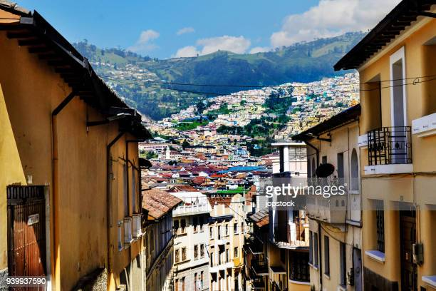 historic center of quito, ecuador - ecuador stock pictures, royalty-free photos & images
