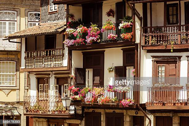 historic centre of guimarães - guimaraes stock photos and pictures