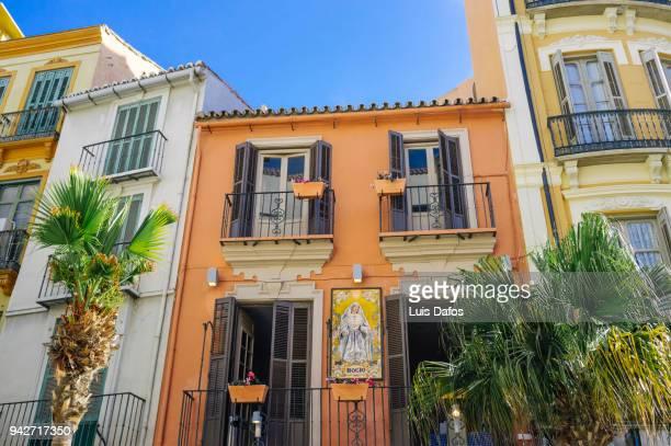 historic centre of malaga - malaga photos et images de collection