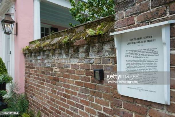 historic charles graves house, charleston, south carolina - antebellum stock photos and pictures
