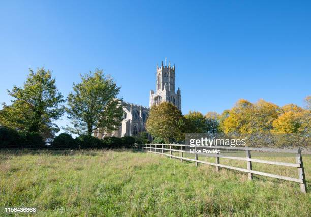 historic church fotheringay northhampton uk - northamptonshire stock pictures, royalty-free photos & images