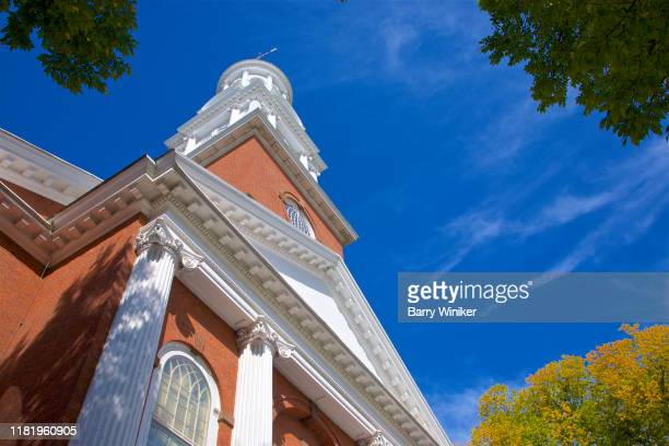 historic church on the green, new haven, connecticut - barry wood stock pictures, royalty-free photos & images
