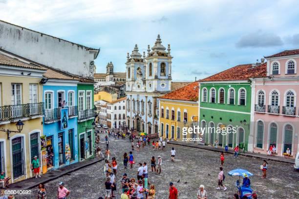 Historic city center of Pelourinho,Salvador,Bahia,Brazil