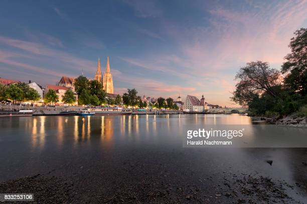 historic city center - regensburg stock photos and pictures