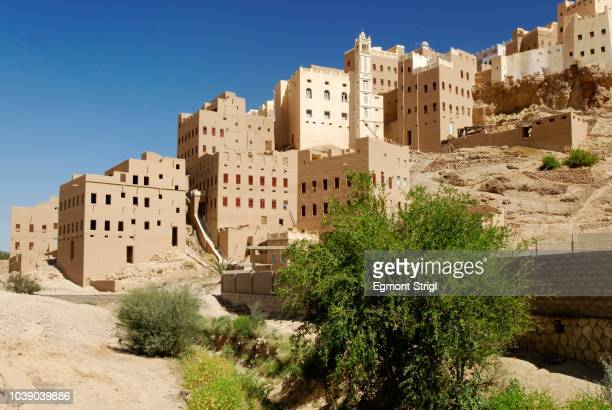Historic city centre of Al Hajjaryn, Wadi Doan, Hadramaut, Yemen, Arabia, Arabian Peninsula, the Middle East