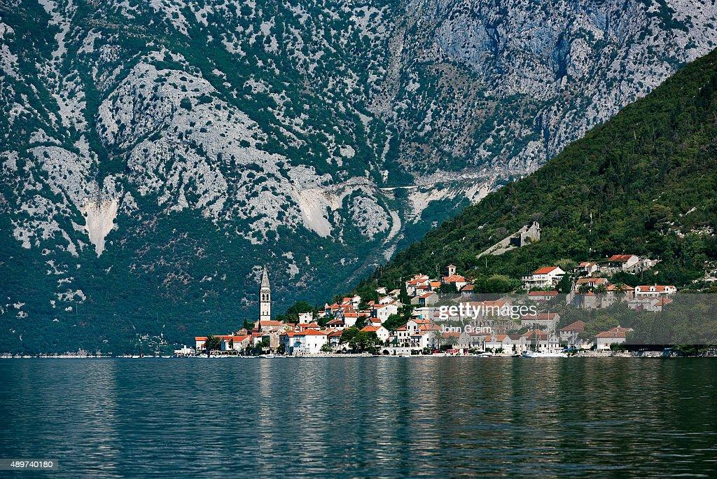 Historic city of Perast, Bay of Kotor.
