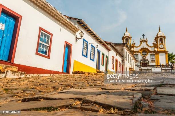historic city of tiradentes in minas gerais was founded in 1702 - ミナスジェライス州 ストックフォトと画像