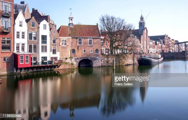 historic cityscape of delfshaven, rotterdam - rotterdam stock pictures, royalty-free photos & images
