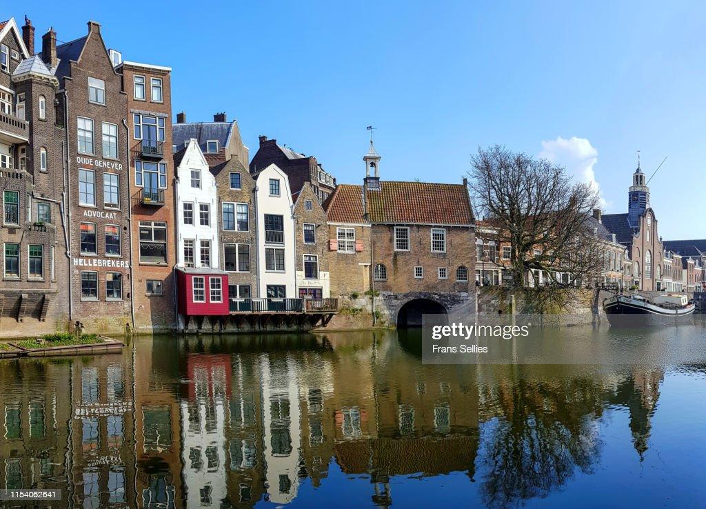 Historic cityscape of Delfshaven, Rotterdam : Stockfoto