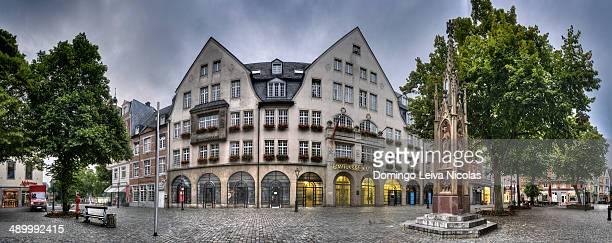 Historic commercial building, Muensterplatz square, Sparkasse Aachen savings bank, Aachen, North Rhine-Westphalia, Germany, Europe,