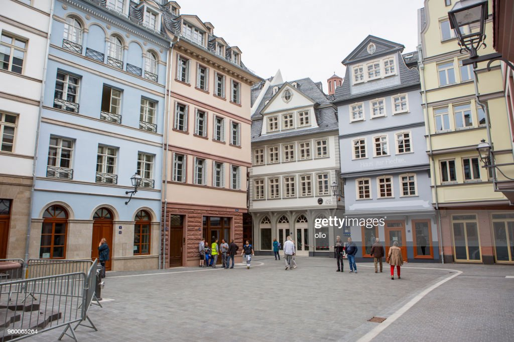 Historisches Viertel Altstadt Frankfurt - Dom-Römer-Projekt : Stock-Foto