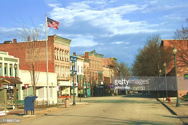 historic district, east coast town - small town america stock pictures, royalty-free photos & images