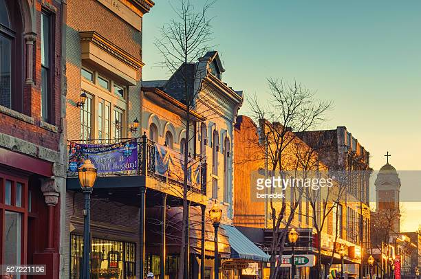 Historic Downtown Mobile Alabama USA at Sunset