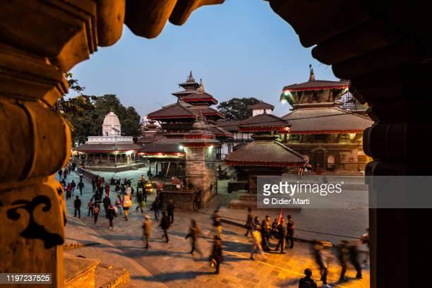 historic durbar square in kahtmandu, nepal capital city - カトマンズ ダルバール広場 ストックフォトと画像