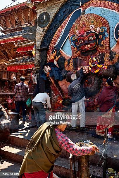 historic durbar square in kathmandu, nepal - カトマンズ ダルバール広場 ストックフォトと画像
