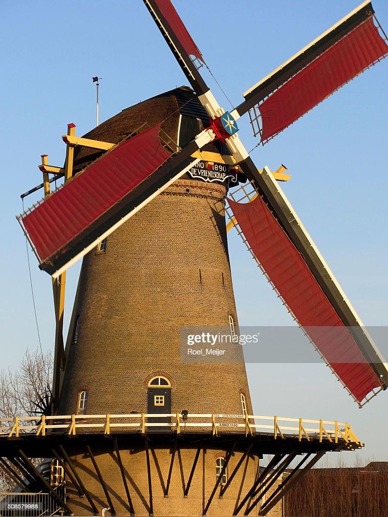 Historic Dutch corn mill : Stock Photo