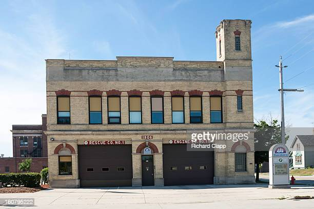 Historic Fire Station building in Sheboygan, WI