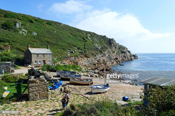 Historic Fishing Cove In Cornwall England Uk This Area Is A Filming Location For The BBC TV Series Poldark