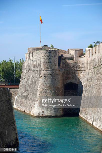 Historic fortified city walls, Ceuta, Spanish Morocco, North Africa