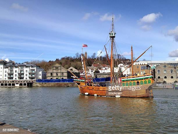 Historic galleon on the River Avon, Bristol harbour