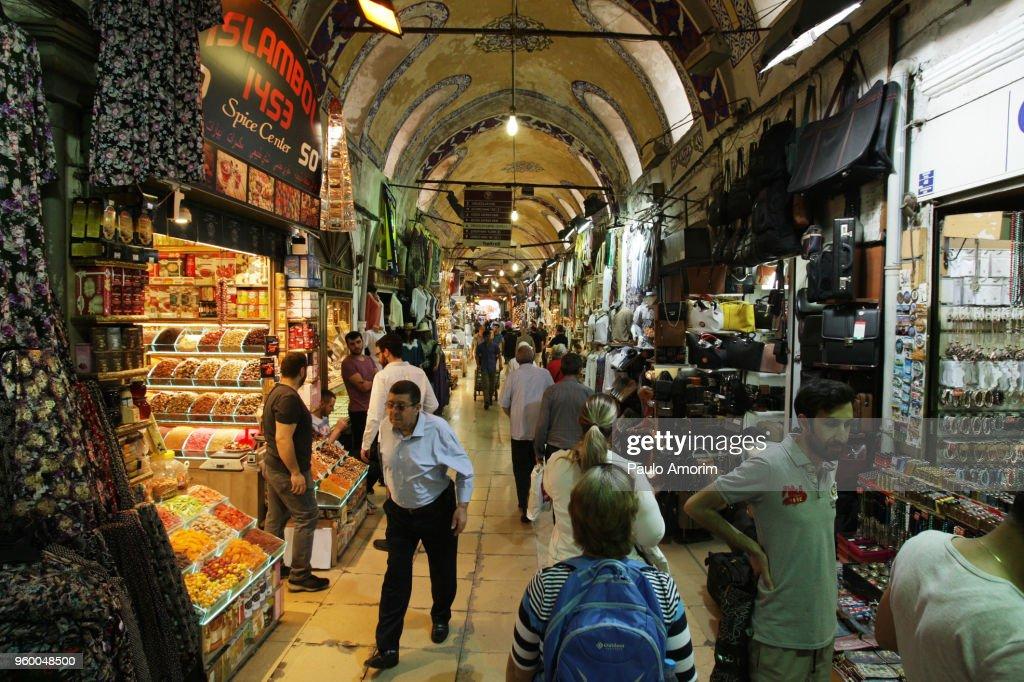 Historic Grand Bazaar in Istabul,Turkey : Stock-Foto
