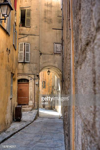 historic grasse street scene - alpes maritimes stock pictures, royalty-free photos & images