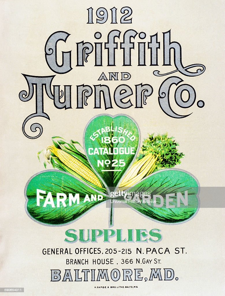 Historic Griffith and Turner Co farm and garden supply catalog