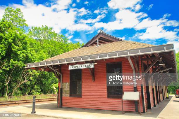 historic harpers ferry, west virginia - protohistory_of_west_virginia stock pictures, royalty-free photos & images