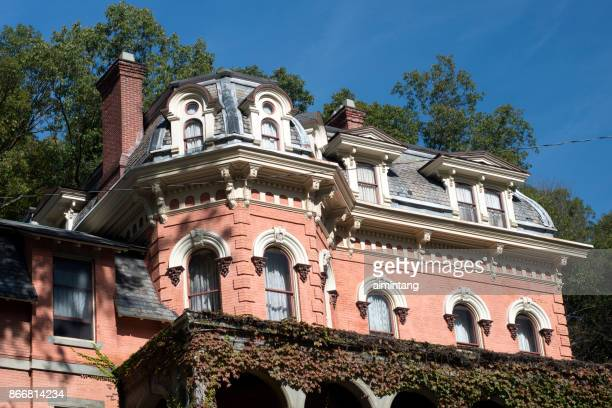 historic harry packer mansion inn in jim thorpe - jim thorpe pennsylvania stock photos and pictures