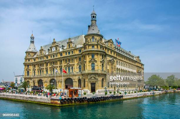 historic haydarpasa train station building - haydarpasa stock photos and pictures