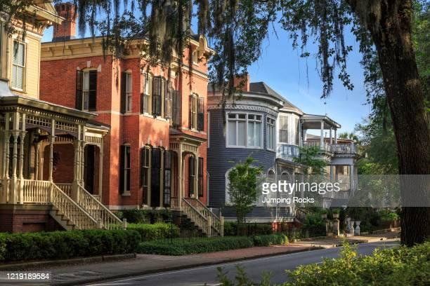 Historic Homes on Forsyth Park, Savannah, Georgia, USA.