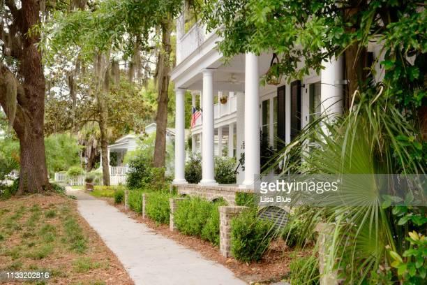 maison historique, beaufort, caroline du sud. - caroline du sud photos et images de collection