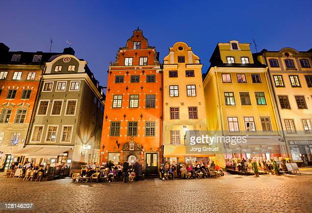 Historic houses in Stortorget Square