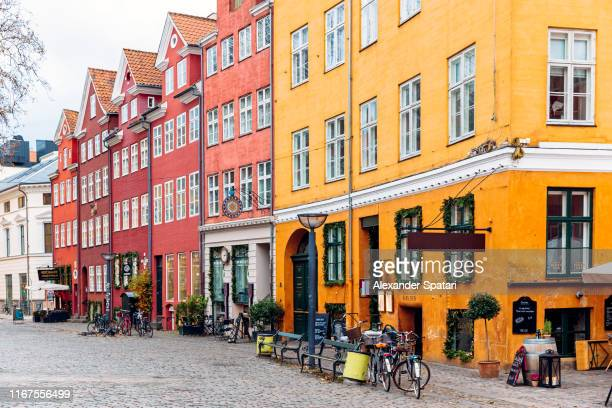 historic houses in the old town of copenhagen, denmark - denmark stock pictures, royalty-free photos & images