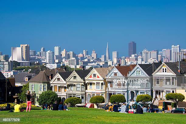 CONTENT] Historic houses in the Victorian style known as the Painted Ladies